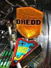 Judge Dredd JD Pinball Machine JUDGE DREDD golden BADGE LED mod (BALLY/WILLIAMS)