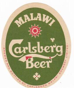 Malawi old Carslberg beer label