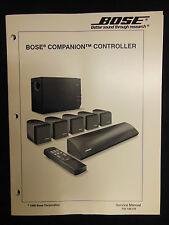 Bose Companion Controller Service Manual OEM ☆ EXC ☆