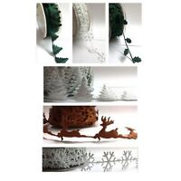 Christmas Festive Trimming Snowflakes Xmas Trees Reindeer Holly by Berties Bows