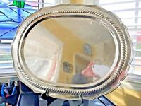 "Silver Butler's Serving Platter or Tray 23""x16"" 76 Troy Ounces"
