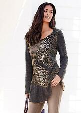 KALEIDOSCOPE BROWN &  NEUTRAL MIXED FABRIC TUNIC SIZE 18 BNWT RRP £59.00