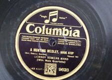 """78 rpm 12"""" DEBROY SOMERS BAND a hunting medley / community medley 9623 columbia"""