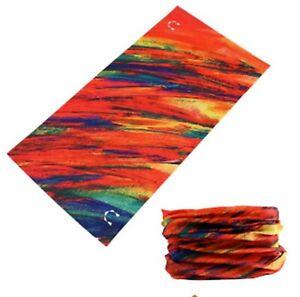 FACE MASK Sun Shield Balaclava Bandana Scarf - Rainbow Stripe (1 Pack)