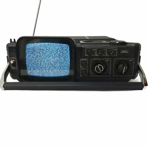 Vintage Sears Go Anywhere TV-Radio Model Solid State UHF VHF TESTED AND WORKING