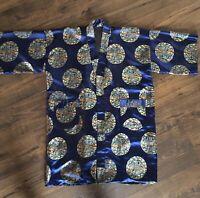Vintage Kimono, Oriental Robe, Reversible Cheongsam 1970s Robe