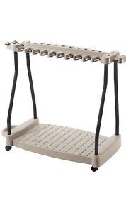 "Suncast Rolling Tool Cart, 42""W x 20""D x 36""H, 30+ Tool Capacity"