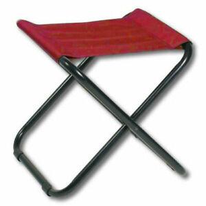 Sgabello rosso seggiolino pieghevole campeggio pesca caccia camping portatile