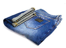 DOLCE & GABBANA GREEN LABEL 14 REGULAR STRAIGHT BLUE MAN'S JEANS SZ 54, W36/L32