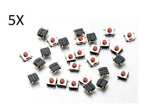 5 PULSANTI TATTILI 6x6x2.5 mm SMD PCB arduino micro mini switch button push pc