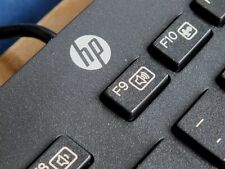 New Boxed Hewlett Packard HP USB Slim UK QWERTY Keyboard KBAR211 Win 7, 8 & 10