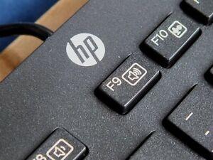New Boxed Hewlett Packard HP USB Slim UK QWERTY Keyboard KBAR211 Win 7, 8 & 10