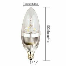 6 PCS LED Candelabra Bulbs E12 3W  White 6000K  Non-dimmable LED Candle Light