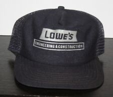 342ccb75e494e Vintage Lowes Engineering Construction NEW ERA MADE USA Trucker Hat Hardware