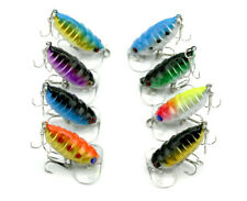 8x Mini Cicada Topwater Popper Fishing Lures Pencil Surface Saltwater Tackle