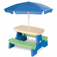 Little Tikes Easy Store Jr. Play Table with Umbrella W