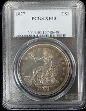 1877 Trade Dollar - PCGS Certified XF40 !!