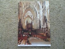 .JUDGE.POSTCARD.YORK MINSTER NAVE LOOKING WEST.  NOT POSTED.No. C6324X.