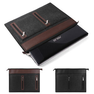 "Woolen Felt Laptop Sleeve Case Cover Bag For 10.1""-17.3""Dell HP Lenovo Acer Asus"