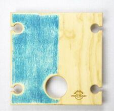 SUMMER PICNIC TABLE BLUE BAY Wine Bottle Portable Timber Folding 40 x 40cm SQ