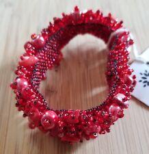 Coral & Glass-Seed-Bead-Bracelet-Handmade-Guatemala Fair-Trade