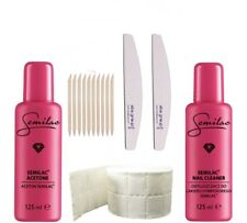 Semilac Manicure Set Nail Cleaner, Aceton, Nail File, Cotton Pads,