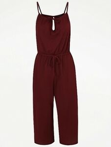 New Tags-George-Lovely Mulberry Floaty Jumpsuit/Pockets Plus Size 20-22