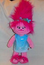 Build a Bear Dream Works Poppy Troll w/Sound & Signature Blue Dress & Slippers
