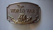 WORLD WAR II REMEMBERED BELT BUCKLE GREAT WORLD WAR COLLECTABLE EXCELLENT CONDIT