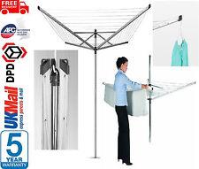Brabantia 60m rotary séchoir/sèche-linge 4 bras de lavage ligne lift-o-matic + spike & cover