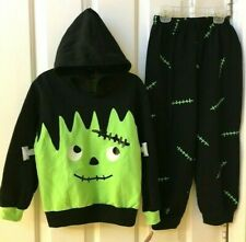 NEW TODDLER BOYS FRANKENSTEIN SHIRT & PANTS OUTFIT SET 18M HALLOWEEN COSTUME