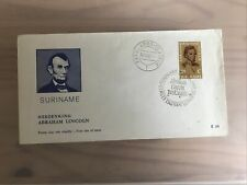 Suriname 1965 Abraham Lincoln FDC First Day Cover