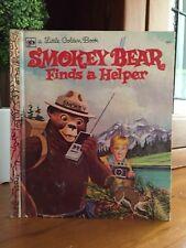 SMOKEY BEAR FINDS A HELPER Vintage little golden book. GC, HC, 1973.