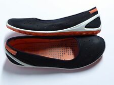 Women'S ECCO Biom Lite Black & Orange Slip On Sandals Shoes - sz 11 - euro 42