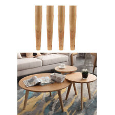 4pcs/Set Solid Wooden Furniture Table Legs with Non-slip Pad DIY Craft 30cm