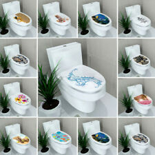 Home Decoration Mural Decal Bathroom Seats Cover DIY 3D Toilet Lid Wall Stickers