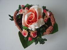Blumentöpfchen Rosen Efeu Blumen Kunstblumen 1 Karton mit 6 Stück neu in OVP!
