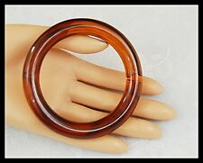 Vintage Lucite Simulated Tortoise Shell Bangle Bracelet