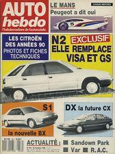 AUTO HEBDO n°653 du 30 Novembre 1988 LANCIA THEMA 16V RAC RALLY