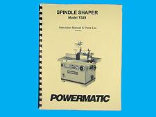 Powermatic  Model TS29 Spindle Shaper Instruction & Parts List Manual *259