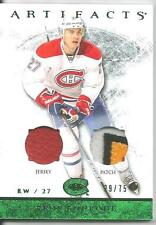 2012-2013 ARTIFACTS RENE BOURQUE EMERALD 4-COLOR PATCH/JERSEY 29/75 CANADIENS