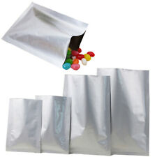 More details for silver open top bags 3 side heat seal flat sachet pouch bpa/smell free heavy dut