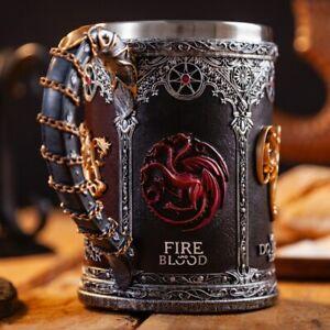 Game of Thrones Mug Goblet Stainless Steel Resin 3D Beer Tankard Coffee Cup Wine