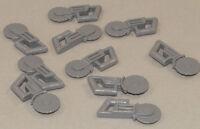 LEGO - 10 x Kreissäge dunkelgrau / Flex / Circular Blade Saw 30194 NEUWARE (a12)