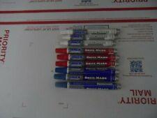 Dykem Brite Mark Medium Tip 3 Red 3 White 3 Blue Industrial Paint Marker