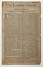 THE LONDON GAZETTE. 1682. Slavery in Jamaica.