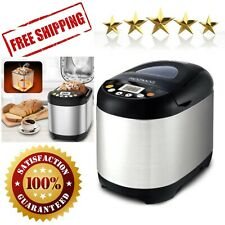 New listing Programmable Bread Machine 2 Lb Automatic Non-stick Pot Stainless Steel Compact