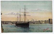 LONDON, BLACKFRIARS BRIDGE AND TRAINING SHIP, TUCK'S