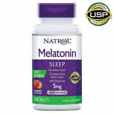 Natrol Melatonin 5mg Fast Dissolve Tablet for Sleeplessness - 250 Strawberry Tab