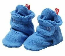 NWT Original Zutano Baby Booties 6M Periwinkle Blue Stay-On Fleece Infant Shoes